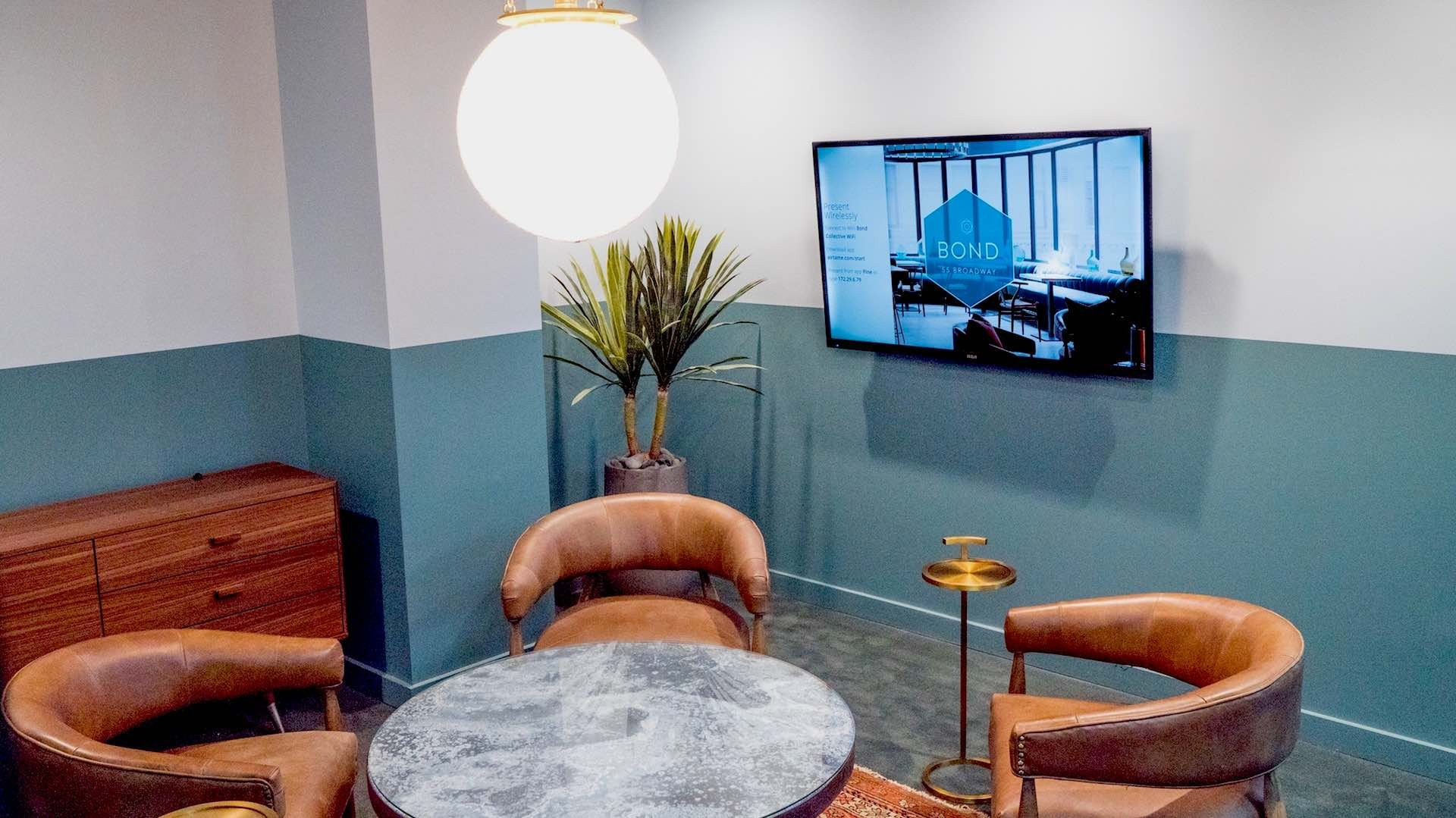 Digital signage deployment in a lounge area