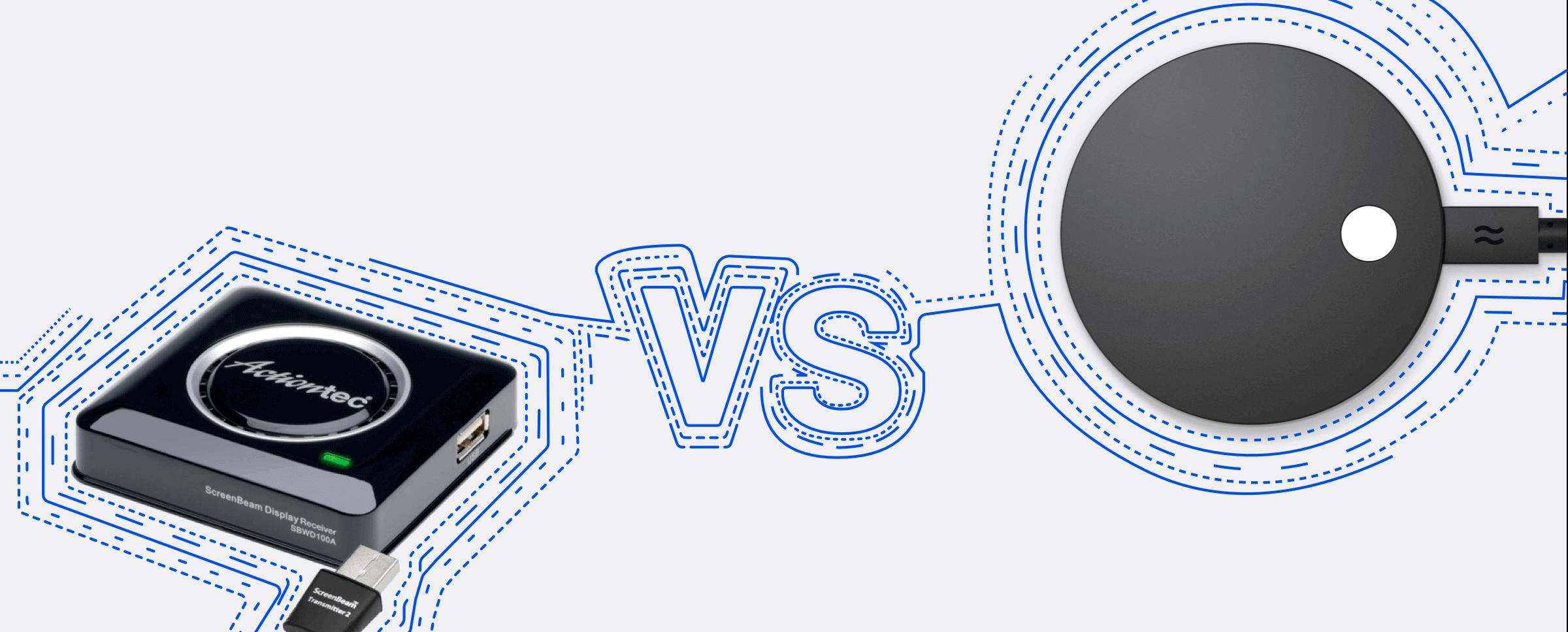 Actiontec ScreenBeam vs Airtame 2
