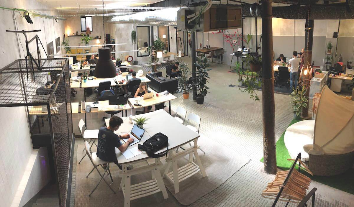 Image of a coworking space in Barcelona