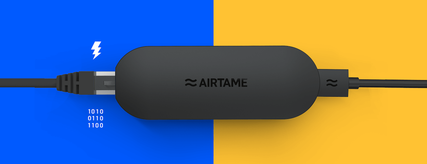 The Airtame Power over Ethenet adapter