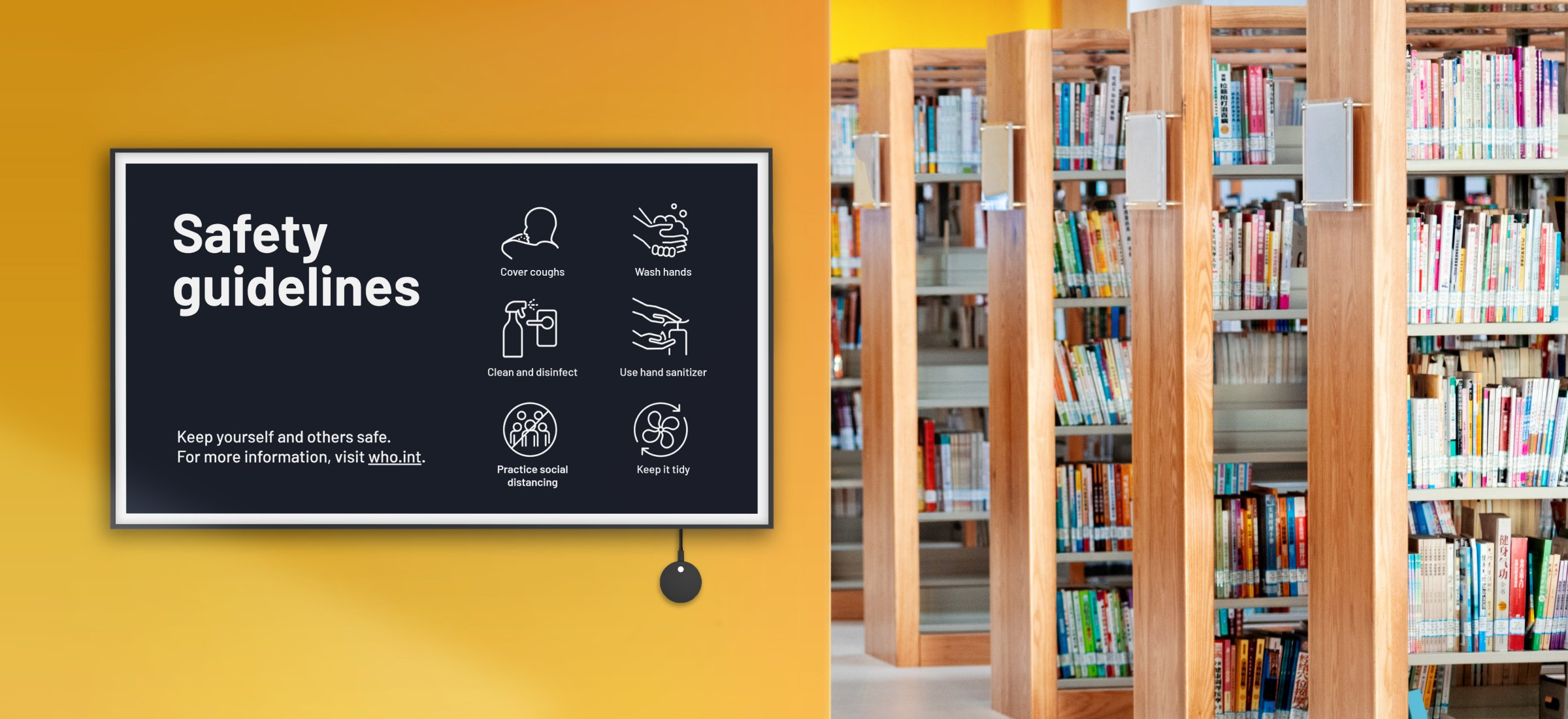How digital signage can promote safety and awareness in school common areas