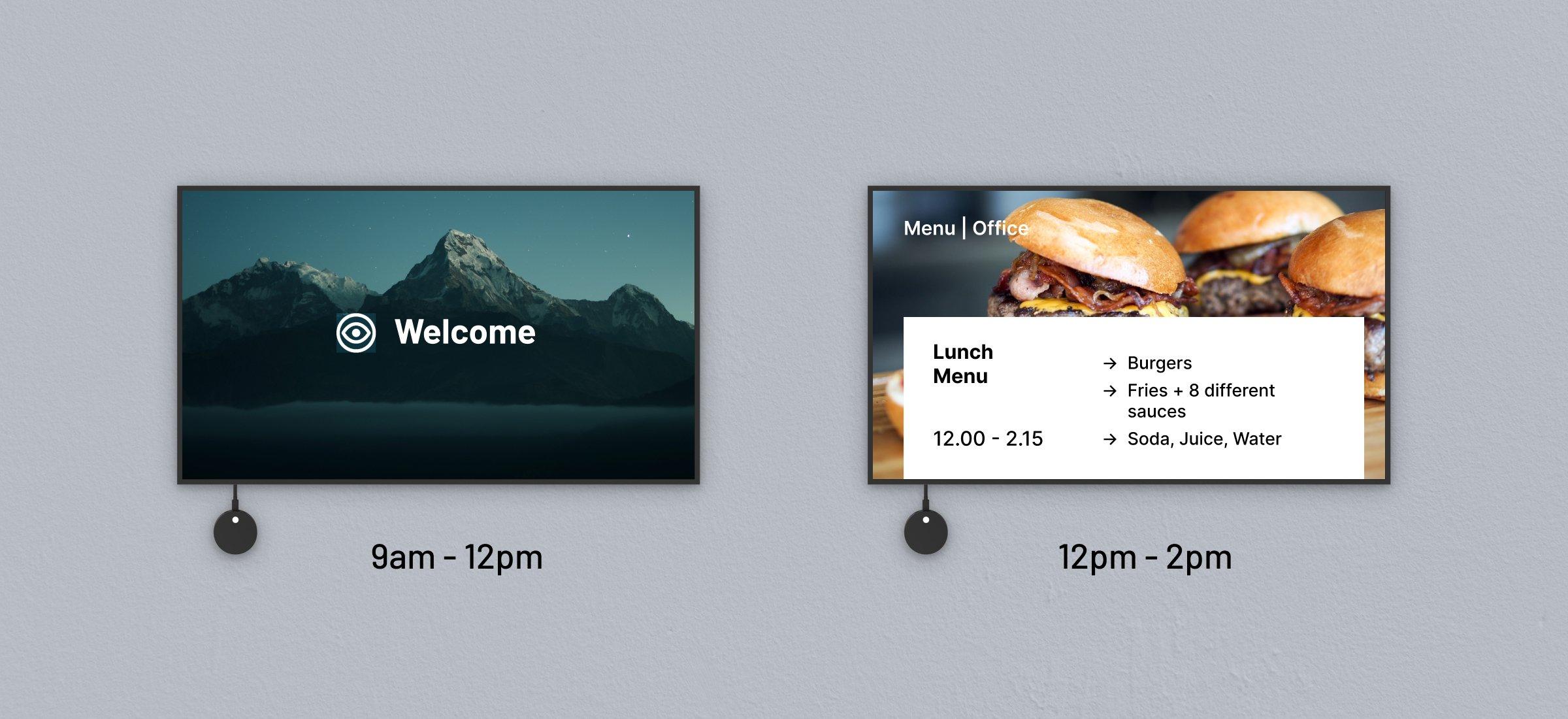 Jetzt verfügbar: zeitgesteuerte digitale Beschilderung und natives Airplay